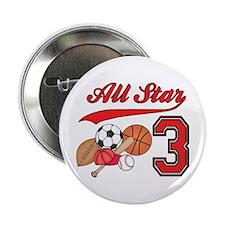 "AllStar Sports 3rd Birthday 2.25"" Button (100 pack"