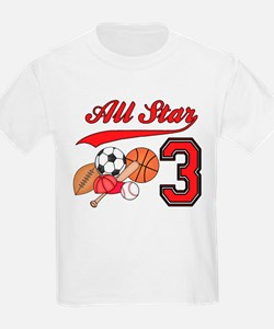 AllStar Sports 3rd Birthday T-Shirt
