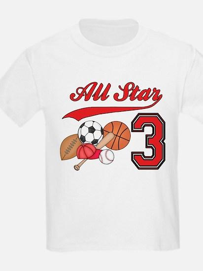 AllStar Sports 3rd Birthday T-Shirt