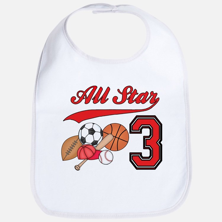 AllStar Sports 3rd Birthday Bib