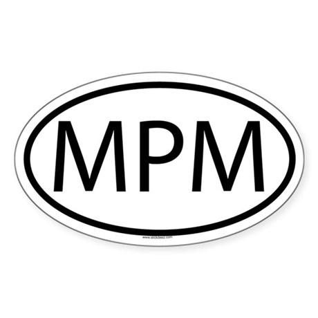 MPM Oval Sticker