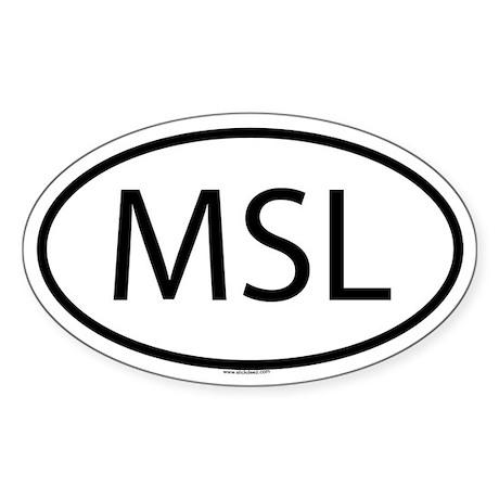 MSL Oval Sticker