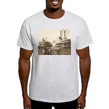Paddle Wheel Longshoremen Ash Grey T-Shirt