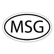 MSG Oval Decal