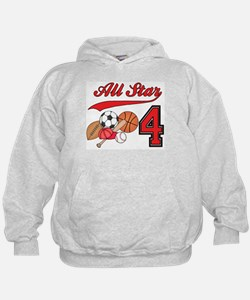 AllStar Sports 4th Birthday Hoodie