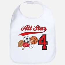 AllStar Sports 4th Birthday Bib