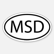 MSD Oval Decal