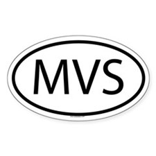 MVS Oval Decal