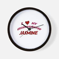 I Love My Granddaughter Jasmi Wall Clock