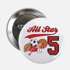 "AllStar Sports 5th Birthday 2.25"" Button (10 pack)"