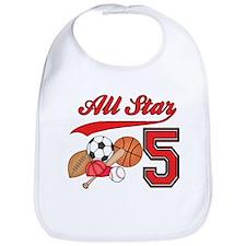 AllStar Sports 5th Birthday Bib
