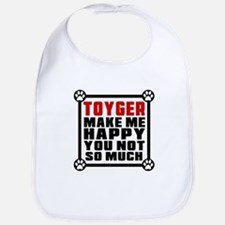 Toyger Cat Make Me Happy Bib