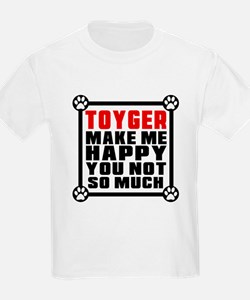 Toyger Cat Make Me Happy T-Shirt
