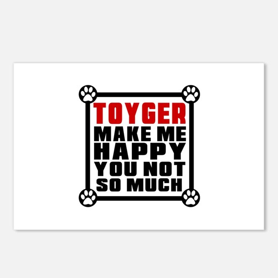 Toyger Cat Make Me Happy Postcards (Package of 8)