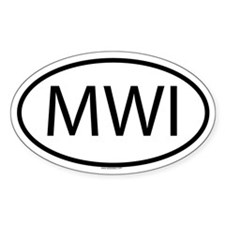 MWI Oval Decal