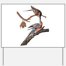 Passenger Pigeon Vintage Audubon Art Yard Sign