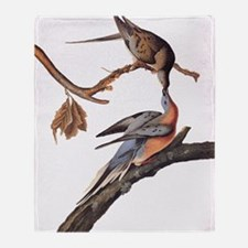 Passenger Pigeon Vintage Audubon Art Throw Blanket