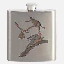 Passenger Pigeon Vintage Audubon Art Flask