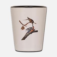 Passenger Pigeon Vintage Audubon Art Shot Glass