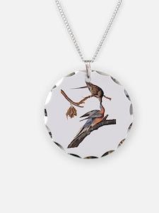 Passenger Pigeon Vintage Audubon Art Necklace