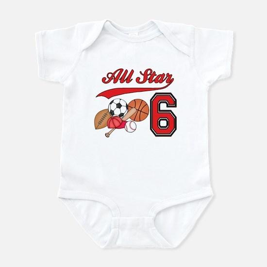AllStar Sports 6th Birthday Infant Bodysuit