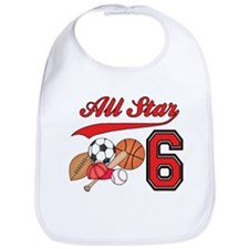 AllStar Sports 6th Birthday Bib