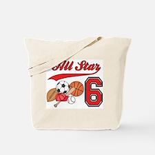 AllStar Sports 6th Birthday Tote Bag