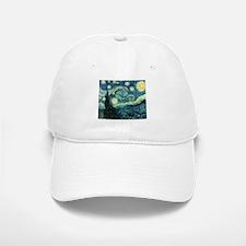 Vincent van Gogh's Starry Night Baseball Baseball Cap