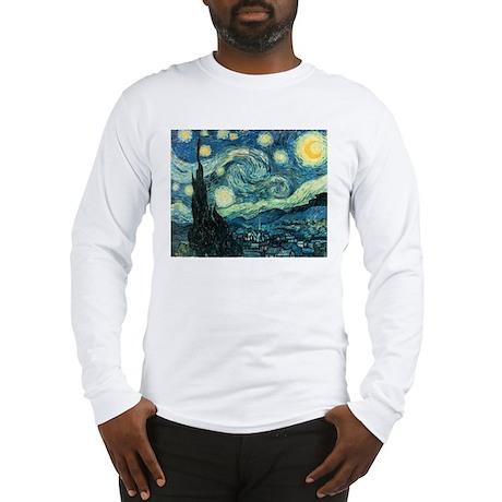 Vincent van Gogh's Starry Night Long Sleeve T-Shir