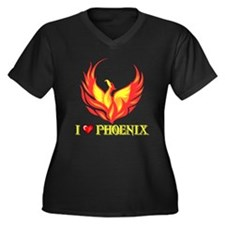 I Love Phoenix Women's Plus Size V-Neck Dark T-Shi