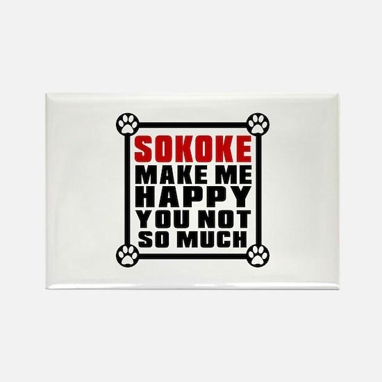 Sokoke Cat Make Me Happy Rectangle Magnet