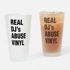 REAL DJs ABUSE VINYL Drinking Glass