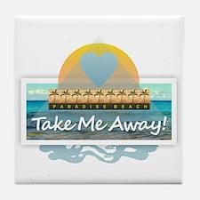 Take Me Away Tile Coaster