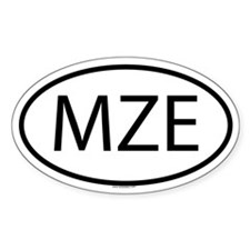MZE Oval Decal