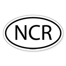 NCR Oval Decal