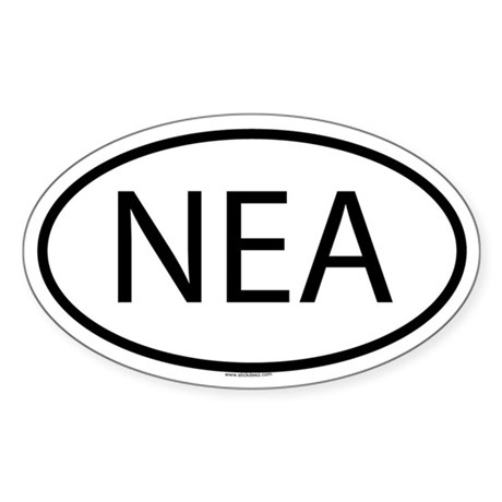 NEA Oval Sticker