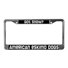 got snow? American Eskimos License Plate Frame