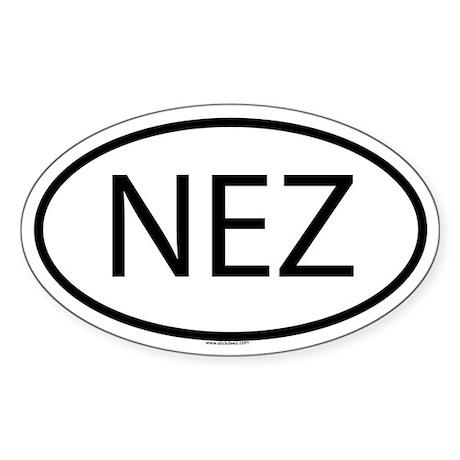 NEZ Oval Sticker