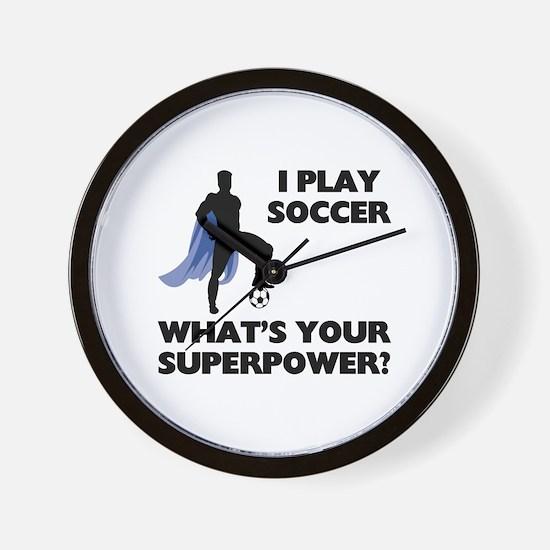 Soccer Superhero Wall Clock
