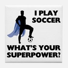 Soccer Superhero Tile Coaster