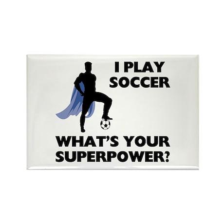 Soccer Superhero Rectangle Magnet