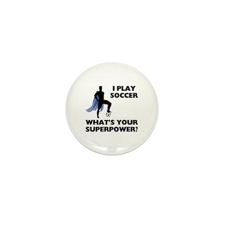 Soccer Superhero Mini Button