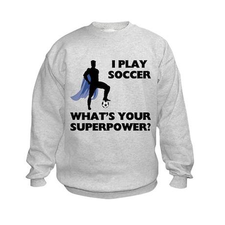 Soccer Superhero Kids Sweatshirt