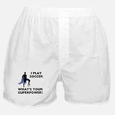 Soccer Superhero Boxer Shorts