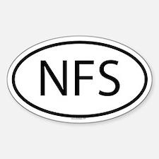 NFS Oval Bumper Stickers