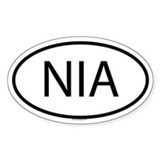 NIA Oval Decal