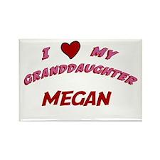 I Love My Granddaughter Megan Rectangle Magnet