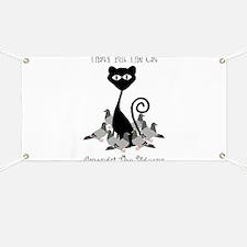Cat Amoungst Pigeons Banner