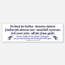 Beowulf's Dragons Bumper Bumper Bumper Sticker