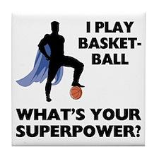 Basketball Superhero Tile Coaster